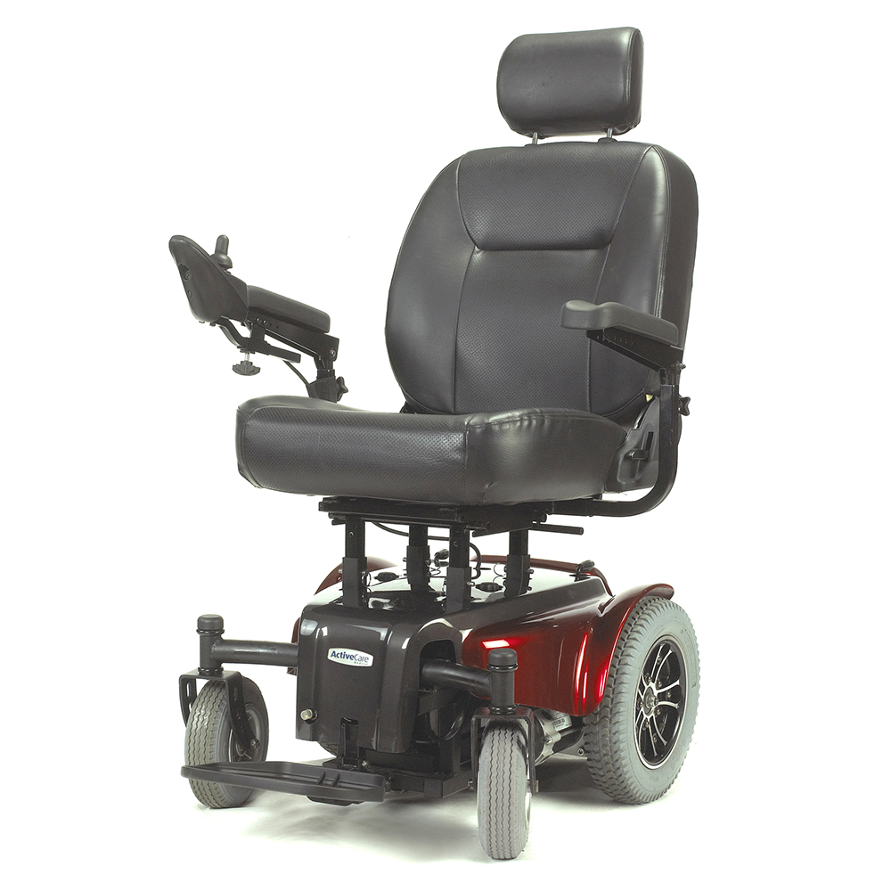"""Drive Medical Medalist Heavy Duty Power Wheelchair, 22"""" Seat, Red"""