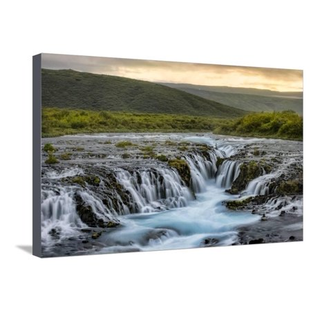 Evening at Bruarfoss Stretched Canvas Print Wall Art By Danny Head