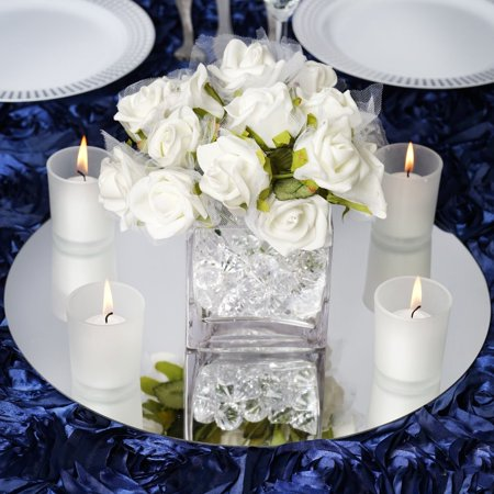 "Efavormart 14"" Round Glass Mirror Wedding Party Table Decorations Centerpieces - 4 PCS"
