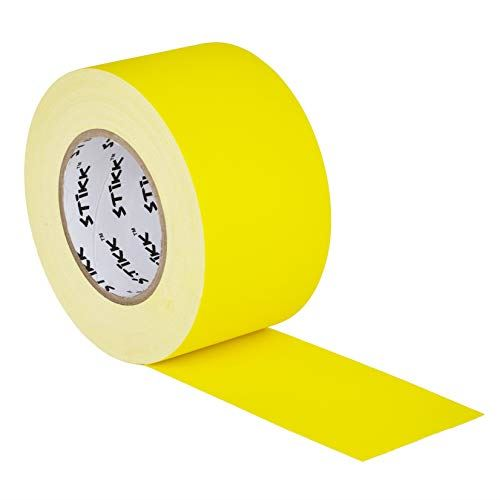 "3/"" x 60 Yard 72mm x 55 m 11 mil STIKK Black Gaffers Tape No Residue Cloth Matte"