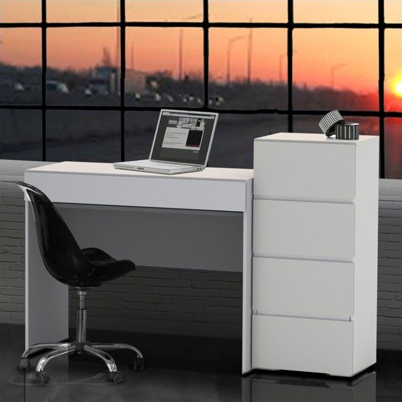 Nexera Blvd 2 Piece Office Set in White