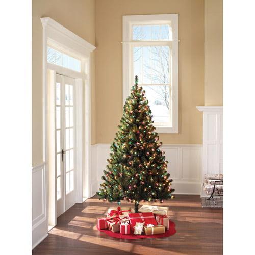 Pre-Lit 6.5' Colorado Pine Artificial Christmas Tree, Multi-Color ...