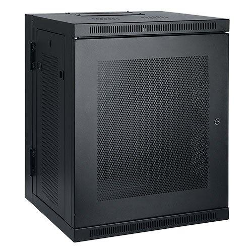 Tripp Lite SmartRack 15U Low-Profile Switch-Depth Wall-Mount Rack Enclosure Cabinet, Hinged Back