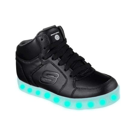 Children's Skechers S Lights Energy Lights High Top Sneaker - High Top Sparkle Sneakers