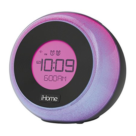 iHome iBT290 Bluetooth Color Changing Dual Alarm FM Clock Radio with Speakerphone and USB