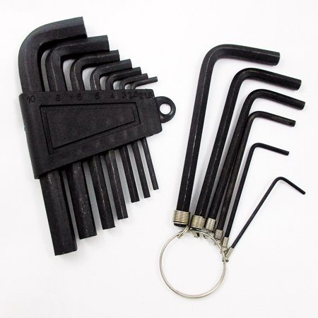 13pc Metric Hex Key Allen Wrench Set Long Short Arm End W/ Holder Sae Set Tools