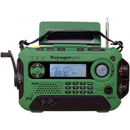 Kaito Voyager Pro Ka600 Digital Solar Crank Am Fm Shortwave Noaa Weather Emergency Radio With Flashlight   Green