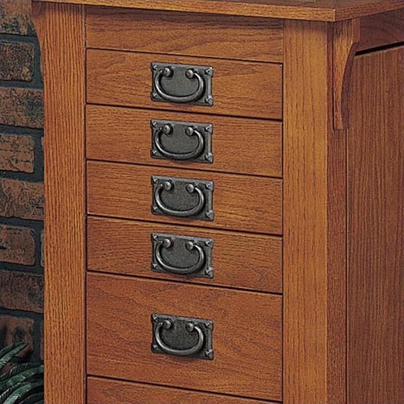 Powell Furniture Mission Oak Jewelry Armoire