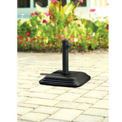 Mainstays Lawson Ridge Umbrella Base, Black Powder Coated Steel