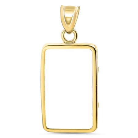14K Gold Prong Plain-Front Bezel (5 gram Gold