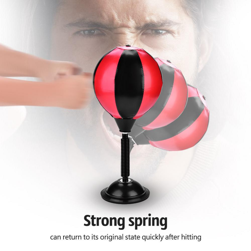 Desktop PU Punching Ball Speed Stress Relief Boxing Bag Mini Punch Toy Gift New