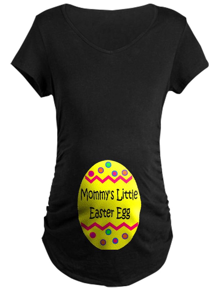 CafePress - Mommy's Little Easter Egg - Maternity Dark T-Shirt