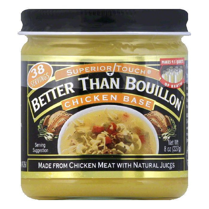 Superior Touch Better Than Bouillon Made From Chicken Meat w/Natural Juices Chicken Base, 8 oz