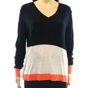Halogen NEW Black Oatmeal Coral Colorblock Women's Size Small S Sweater
