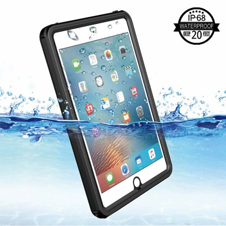 Cribun iPad Mini 4 Waterproof Case,IP68 Waterproof iPad Mini 4 Waterproof Case with Adjustable Tablet Stand Built-in Screen Protector - image 5 of 7