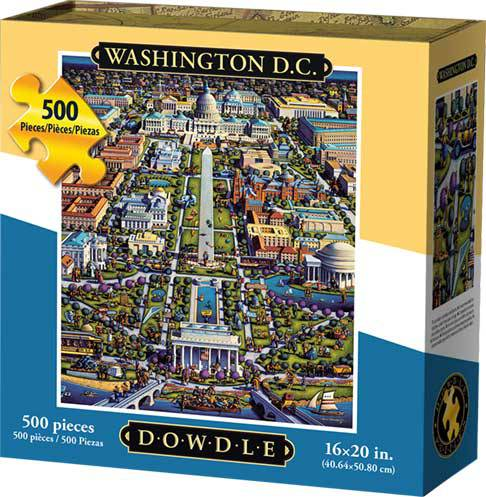 Dowdle Jigsaw Puzzle - Washington D.C. - 500 Piece - Firefly Washington Dc