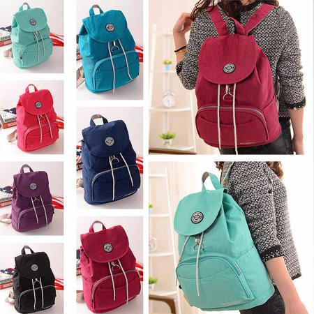 Nylon Backpack For Adults Women School Casual Rucksack Laptop Bag Satchel