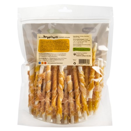 Bravo Pet Treats (Pet 'n Shape All Natural Chicken Hide Twists Dog Treats, Small, 1 Lb)