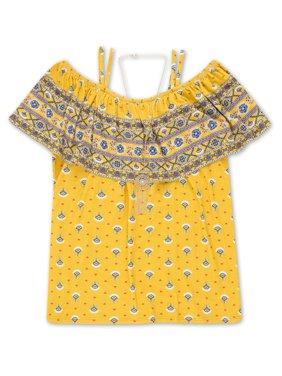 Yellow Girls Tops & T-Shirts - Walmart com