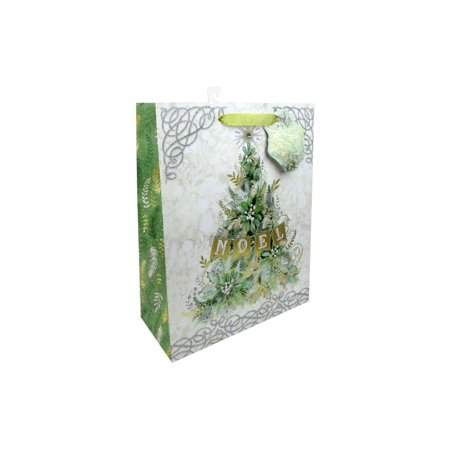 Punch Studio Winter Greens Gift Bag Lg Vertical (Green Halloween Punch Jello)