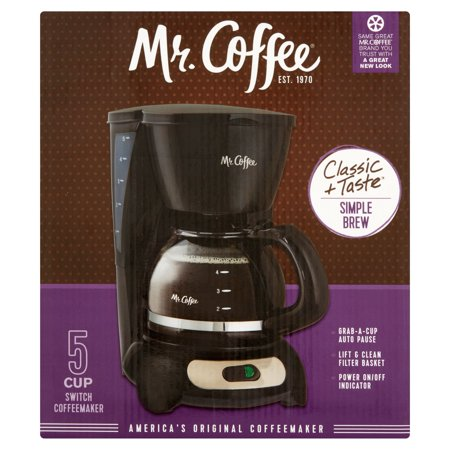 Mr  Coffee Classic   Taste Simple Brew 5 Cup Switch Coffeemaker