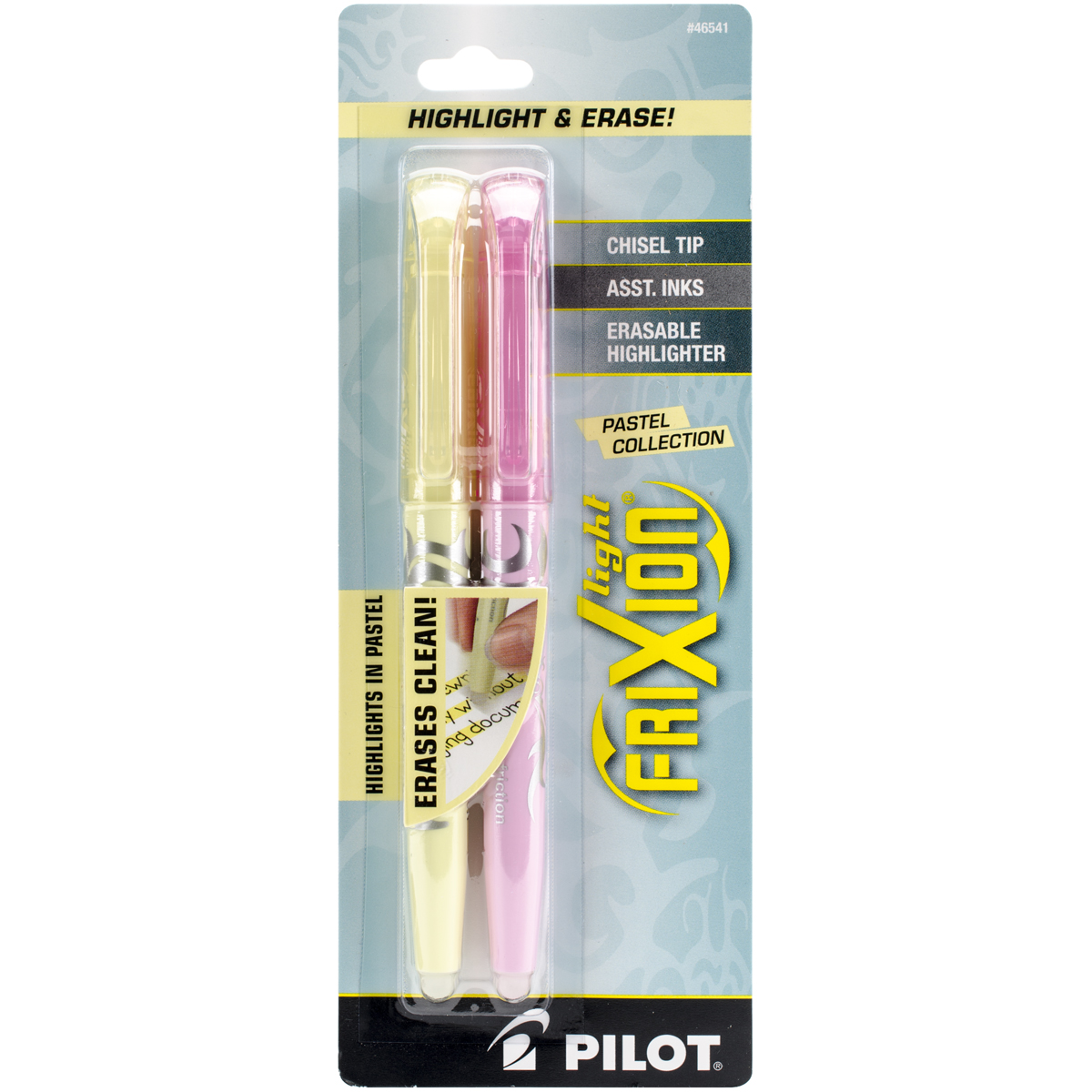 Pilot FriXion Light Pastel Erasable Highlighters 3/Pkg-Yellow & Pink