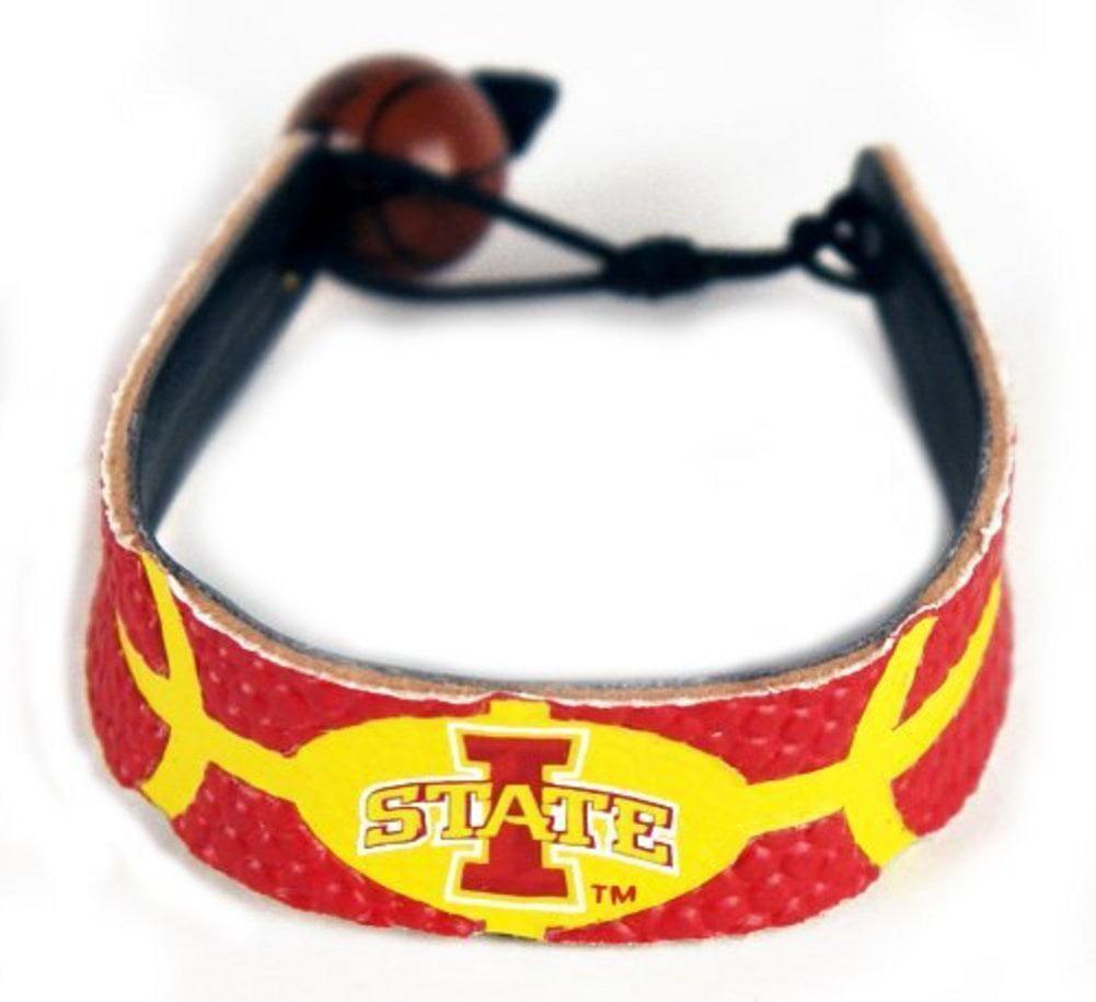 NCAA Iowa State Cyclones Primary Athletic Mark Logo Team Color Basketball Bracel