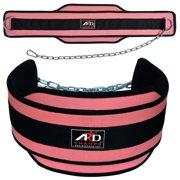 Neoprene Weight Lifting Dip Belt Exercise Belt Fitness Body Building Belt Pink