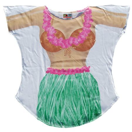 Hula Sarong Cover-up Beach T-Shirt Tee Sexy Bikini Swimwear (Sarong Cover Up)