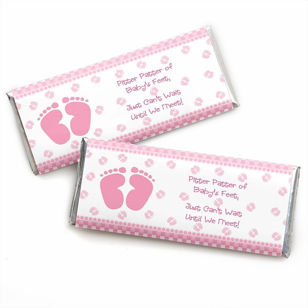 Set of 12 Girls Baby Shower Decor Baby Shower Favors Large Personalized A Sweet Thank You Baby Shower Hershey Candy Bar Wrappers