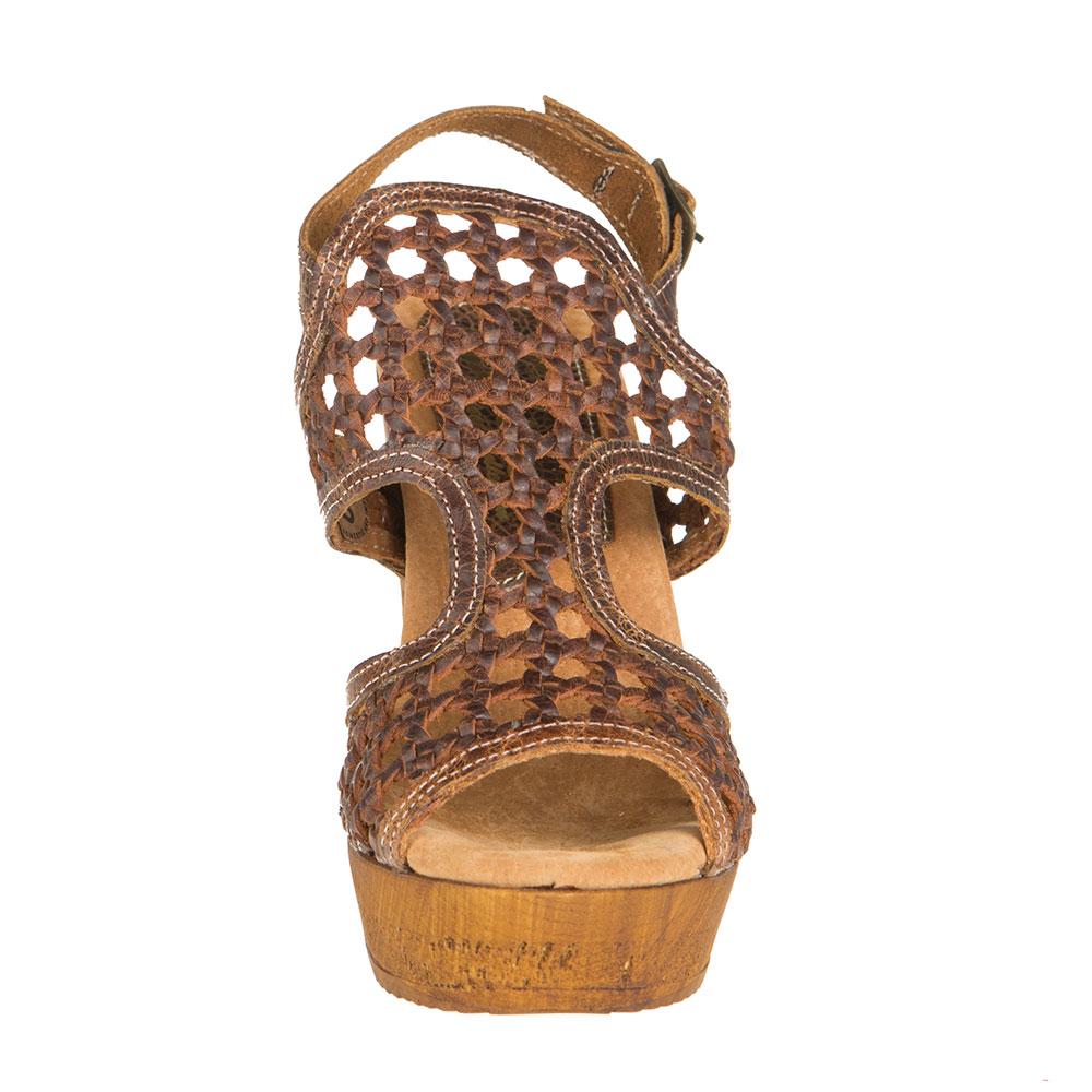 Sbicca Womens Ladies Brown Macos Peep Toe Wedges