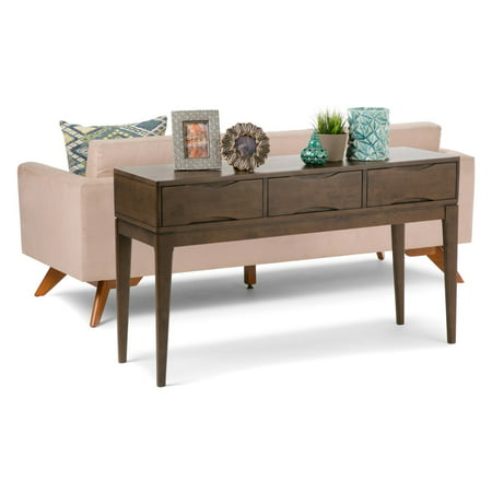 "54"" Pearson Solid Hardwood Console Sofa Table Walnut Brown - Wyndenhall"