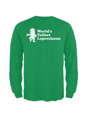 60b3d7ab2e16f Product Image St. Patricks DayWorld's Tallest Leprechaun Irish Green Adult  Long Sleeve T-Shirt