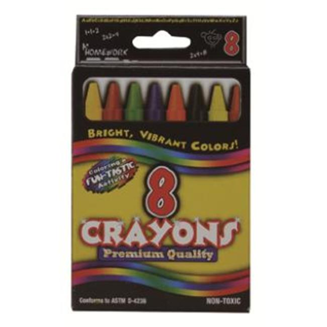 Bulk Buys Crayons assorted colors - 8 count boxed.  - Case of 48