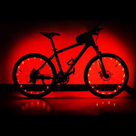Led Bicycle Bike Wheel Light Auto Open & Close Wheel Spoke Light String