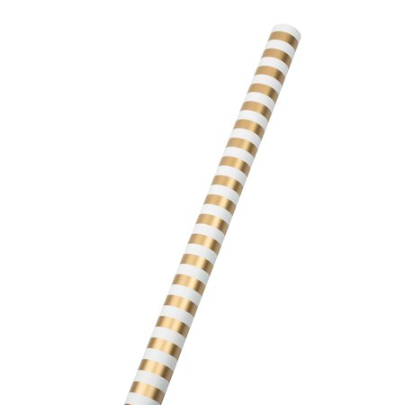 Gold Striped Paper (JAM Paper® - Gold & White Stripe 30 sq ft. Jumbo Striped Wrapping Paper Rolls - Sold)