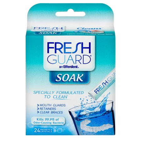 Fresh Guard by Efferdent Soak Crystals, 24 Count