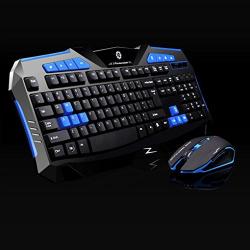 Hatop Gaming wireless 2.4G keyboard and Mouse + NANO USB Signal Receiver Set to Computer Multimedia Gamer