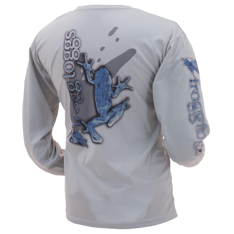 Men's Frogg Toggs Piscatorian Mesh Performance Shirt (Large, Blue Logo)