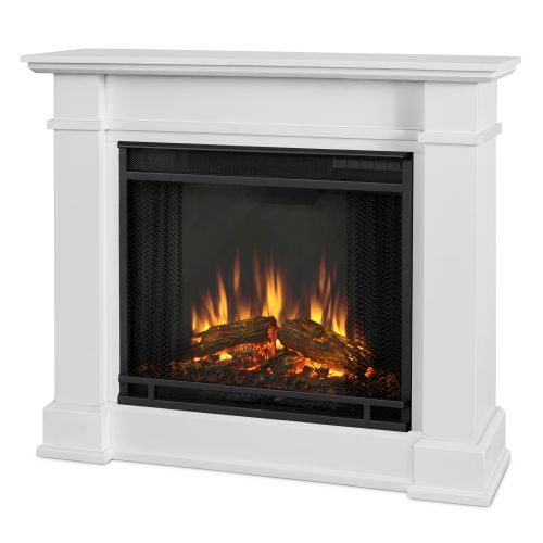 Devin Indoor Electric Fireplace, White