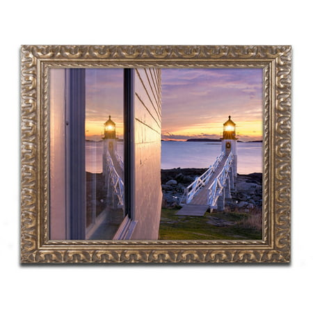 "Trademark Fine Art ""Looking Glass"" Canvas Art by Michael Blanchette Photography Gold Ornate Frame"