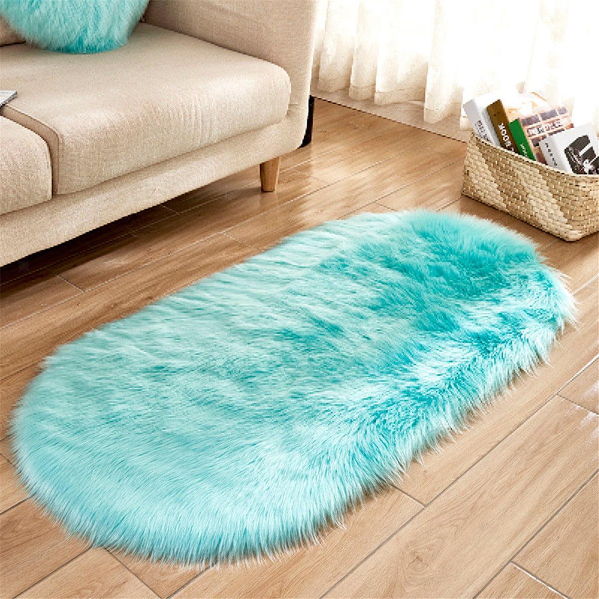 47''x20'' non skid oval plush area rug living room carpet