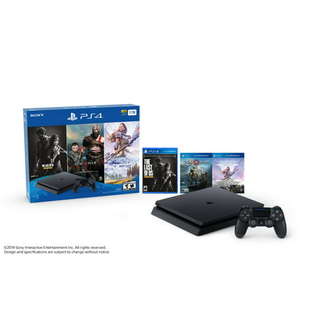 Sony PlayStation 4 1TB Only on PlayStation PS4 Console Bundle, Black