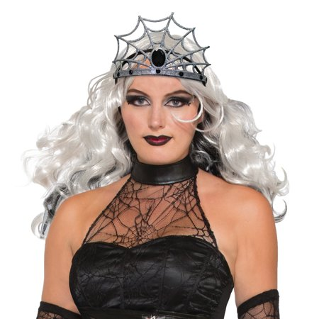 Gothic Witch Wicked Evil Queen Spider Web Tiara Crown Costume Accessory