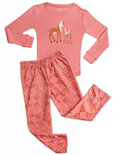 Fleece & Cotton 2 Piece Pajama Deer 6 Years