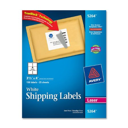 Avery Easy Peel Mailing Label 333 Width X 4 Length 150 Pack