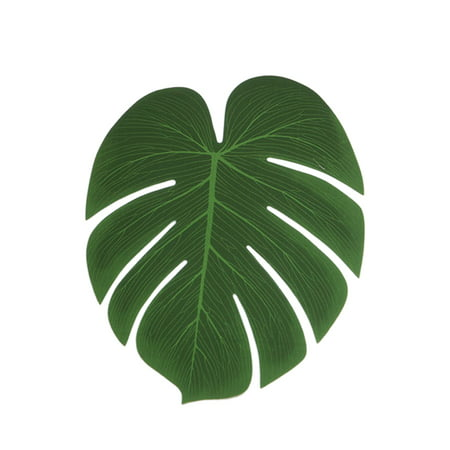 5Pcs Simulation Plant Silk Cloth Fake Palm Leaves Flower Arrangement Ornament Monstera Leaf Artificial Party Jungle Beach Theme Decorations - Beach Themed Parties For Adults