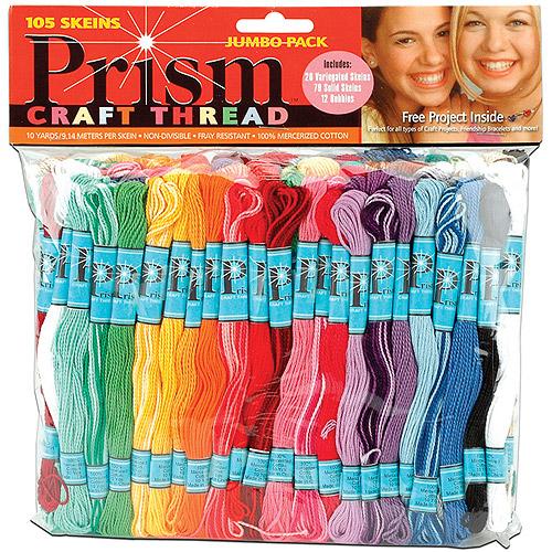Prism Craft Thread Jumbo Pack 9.14 Meters 105/pkg, Assorted Colors