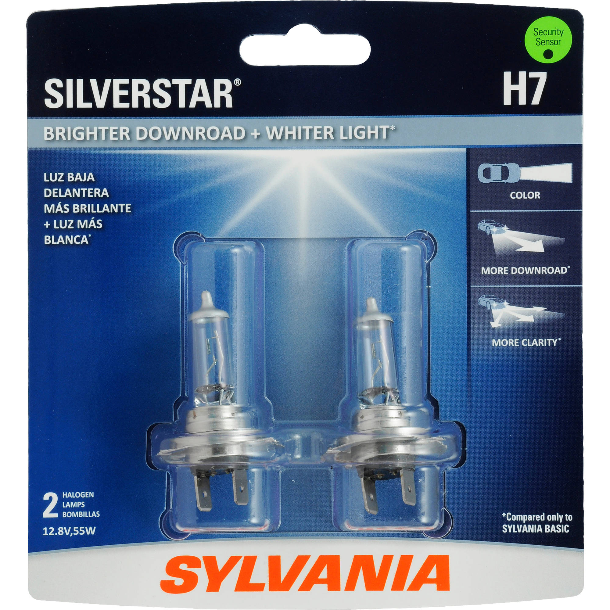 Sylvania H7 SilverStar Headlight, Contains 2 Bulbs