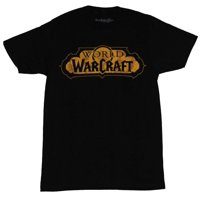 World of Warcraft Mens T-Shirt - Classic Yellow Game Logo Image